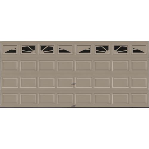 Ideal door sunrise 16 ft x 7 ft 4 star sandtone insul for 16 ft x 7 ft garage door