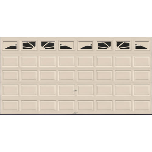 Ideal door sunrise 16 ft x 8 ft 4 star almond insul ez for 16x8 garage door prices