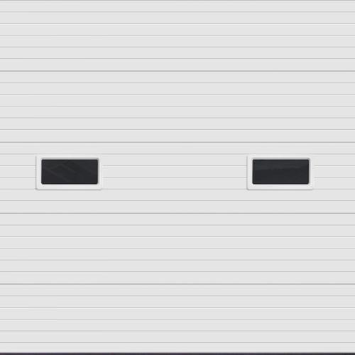 Ideal door 10 ft x 10 ft 5 star white ribbed 2 lite for 10x10 overhead door price