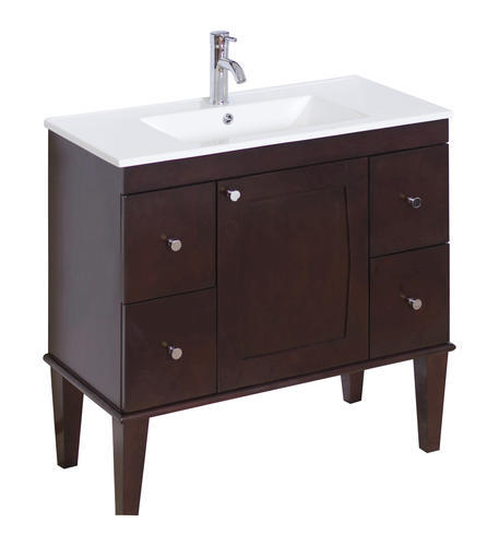 Imaginations 36quot; x 18quot; Antique Walnut Vanity base at Menards