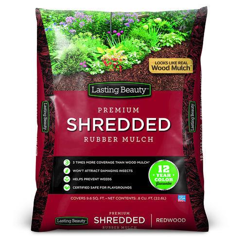 Lasting Beauty Shredded Rubber Mulch 0 8 Cu Ft At Menards 174