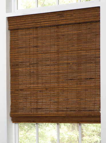 Intercrown Cordless Woven Wood Roman Shades 48 Quot X 64 Quot At