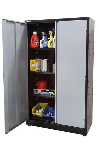 menards garage cabinets performax 174 48 quot w all steel storage locker at menards 174 23187
