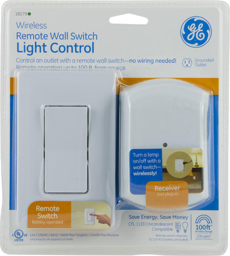 Remote Control Outdoor Wall Lights : GE Wireless Remote Wall Switch Light Control at Menards