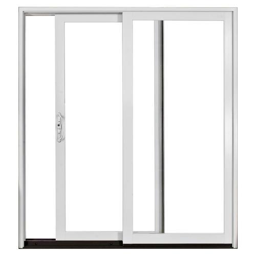 Jeld wen white aluminum clad 6 ft left patio door low e for 6 ft wide patio doors