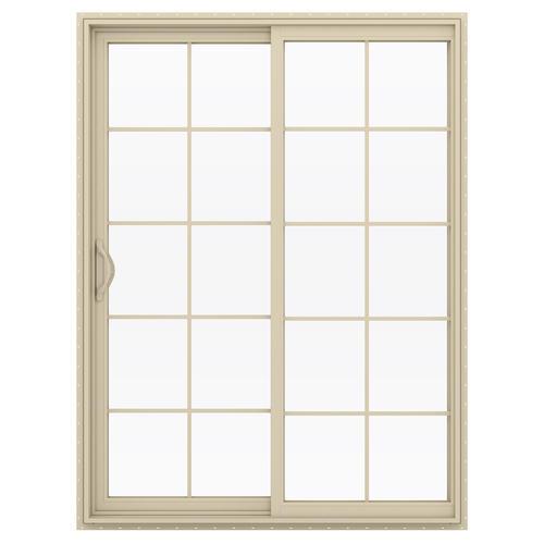 JELD WEN Builders Series 10 Lite Left Hand Vinyl Sliding Patio Door At Menards