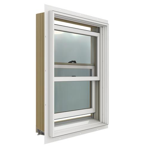Aluminum Double Hung Windows : Jeld wen w low e aluminum clad wood double hung window
