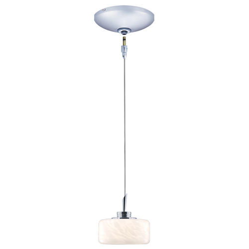 "Low Voltage Indoor Lighting Systems: JESCO Elaine 98"" Chrome 1-Light Low-Voltage Pendant Kit At"