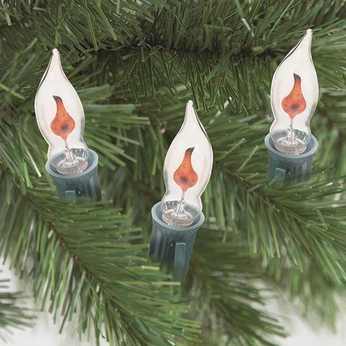 10-Light Flicker Flame C7 Christmas Light Set At Menards®