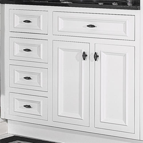 Jsi 36 Rta White Inset Vanity With 3 Lh Drawers At Menards