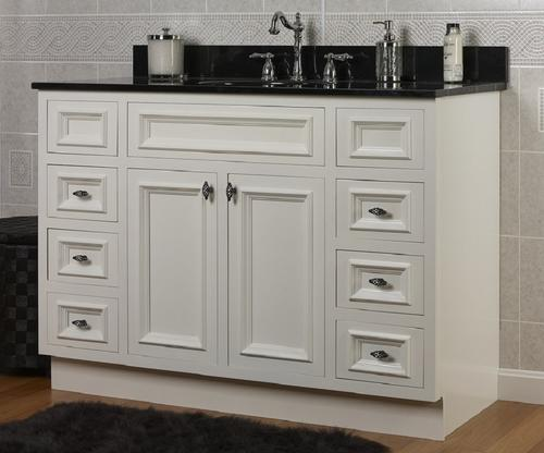 Jsi 48 Rta White Inset Vanity With 6 Drawers At Menards