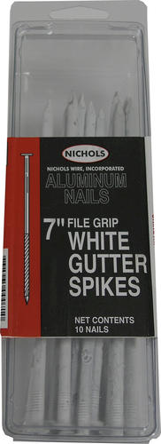 7 Quot Aluminum Gutter Nail White At Menards 174
