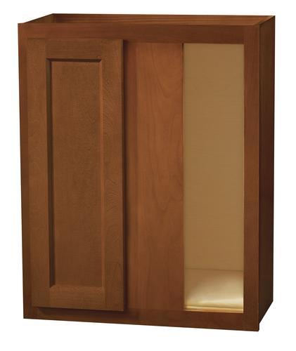 Kitchen kompact glenwood 24 x 30 beech corner wall for Beech kitchen wall cupboards