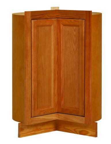 Kitchen Kompact Cabinets Kitchen Kompact Chadwood 36LS Oak Lazy Susan Corner Base Cabinet At