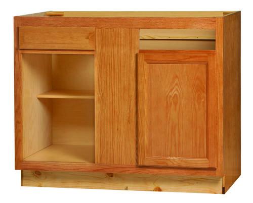 Kitchen kompact chadwood 42bc oak blind corner base for Blind corner kitchen cabinets