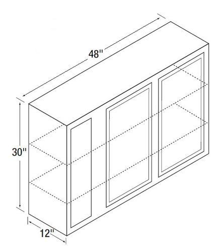 Kitchen kompact glenwood 48wc 48 x 30 beech blind corner for Beech kitchen wall cupboards