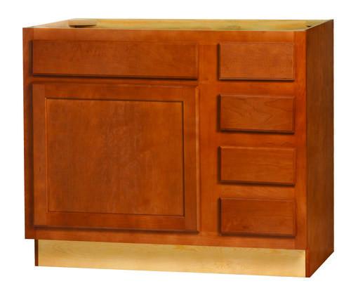 "Kitchen Kompact Bretwood 36"" X 21"" Maple Vanity Base"