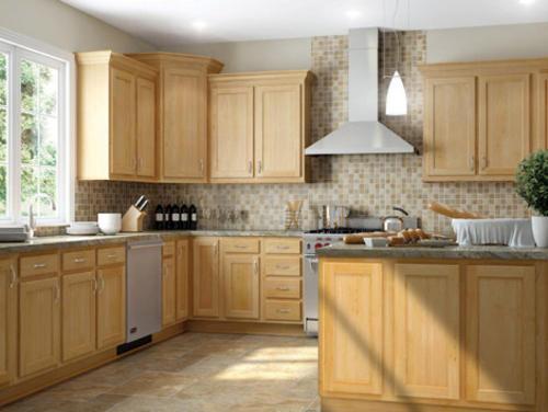 Kitchen kompact mellowood 48bc p 48 maple peninsula - Menards kitchen cabinets sale ...