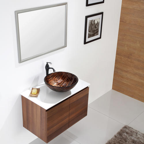 Kraus Gaia Glass Vessel Bathroom Sink at Menards?