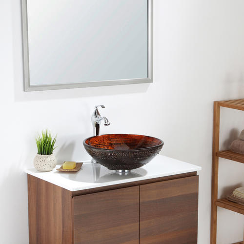 Kraus Prometheus Glass Vessel Bathroom Sink At Menards