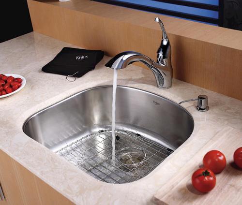 Kraus 23 Stainless Steel Undermount Single Bowl 16 Gauge Kitchen Sink At Menards