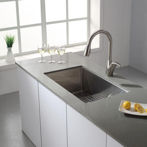 Kraus 30 Stainless Steel Undermount Single Bowl 16 Gauge Kitchen Sink At Menards