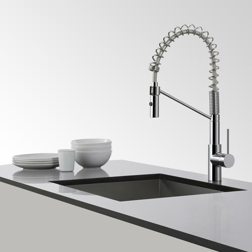 mateo single lever commercial style kitchen faucet chrome