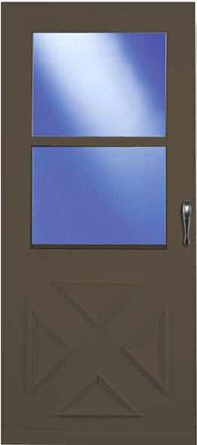 larson value core 30 x 80 crossbuck self storing storm and screen door at menards. Black Bedroom Furniture Sets. Home Design Ideas
