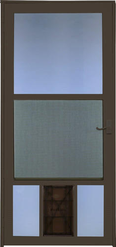 Larson Westminster Reversa Screen Storm Door With Pet Flap