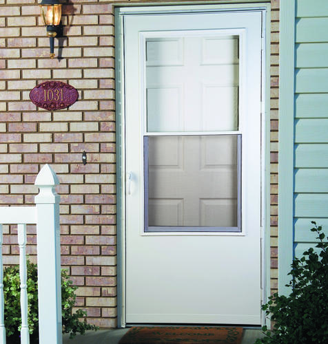 Mastercraft ch 686 gloss white steel full lite prehung ext for Mastercraft storm doors