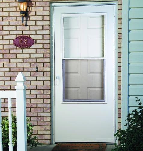 28 32 screen door shop screen tight liberty natural wood for Mastercraft storm doors