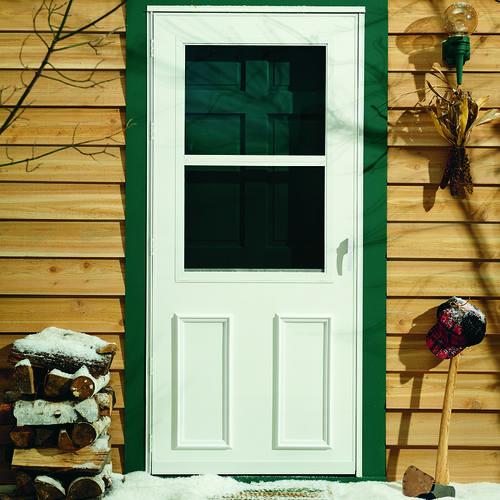 larson newbury self storing storm and screen door at menards. Black Bedroom Furniture Sets. Home Design Ideas