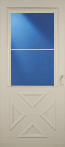 larson bloomfield screen away crossbuck storm and screen door at menards. Black Bedroom Furniture Sets. Home Design Ideas