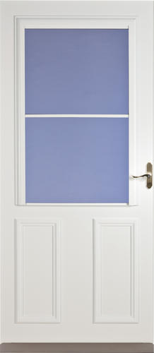 Larson timberline screen away high view storm screen door for Storm door with roll up screen