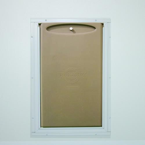 larson westminster self storing storm door w pet flap at menards. Black Bedroom Furniture Sets. Home Design Ideas