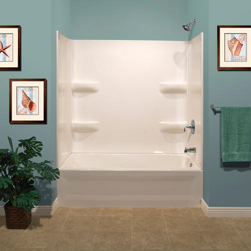 Lyons Elite Corner Shelf 60 X 32 X 59 3 Piece Bathtub Wall