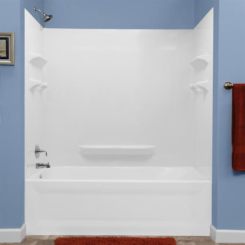 Lyons Palm Springs Smooth Sectional Bathtub Wall Kit At