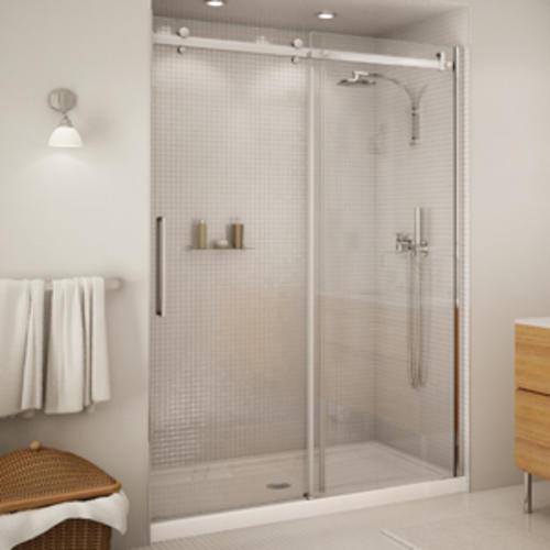 Maax 174 Halo 56 1 2 Quot 59 Quot Sliding 2 Panel Shower Door At Menards 174