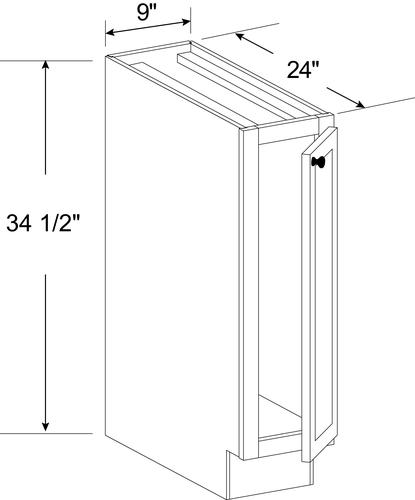 """White Kitchen Cabinets At Menards: Cardell® Concepts 9"""" Kitchen Base Cabinet At Menards®"""