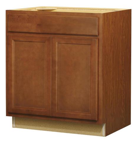 Value choice 30 erie birch standard 2 door 1 drawer base - Kitchen cabinet doors menards ...