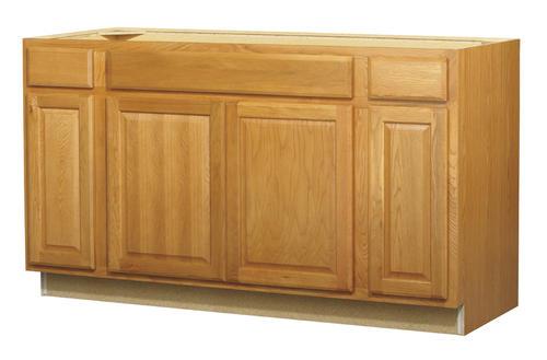 Value Choice 60 Huron Oak Standard 4 Door Sink Base Cabinet At Menards