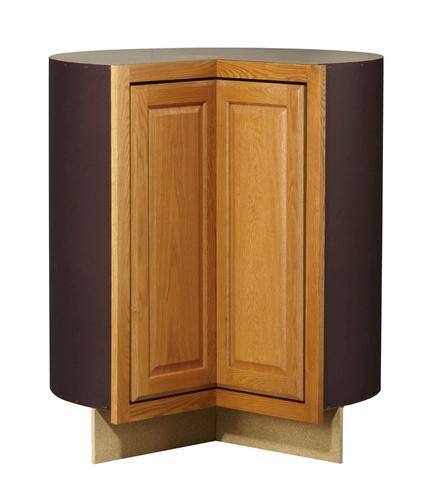 Value Choice 36 Huron Oak Easy Reach Corner Base Cabinet