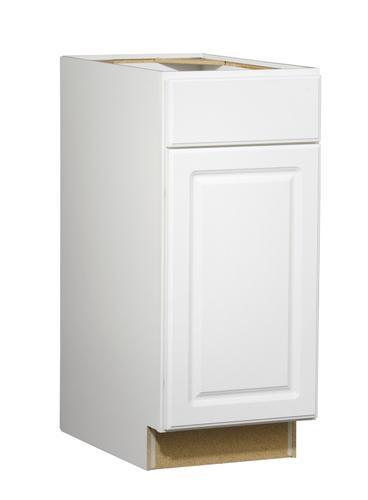 Value choice 15 ontario white standard 1 door drawer base for Standard white kitchen cabinets