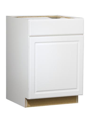 "Value Choice 24"" Ontario White Standard 1-Door/Drawer Base ..."
