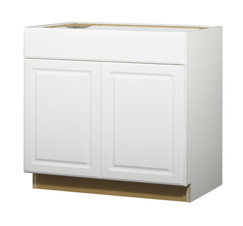 "Value Choice 36"" Ontario White Standard 2-Door Sink Base"