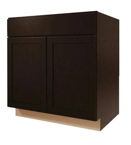 "Menards Kitchen Cabinet Price And Details: Value Choice 33"" St. Lawrence Birch Standard 2-Door Sink"