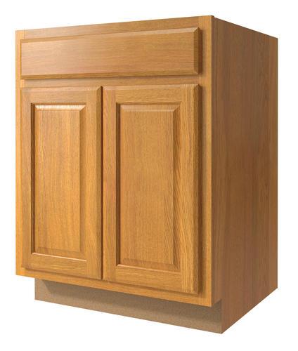 Value choice 27 huron oak standard 2 door 1 drawer base - Kitchen cabinet doors menards ...