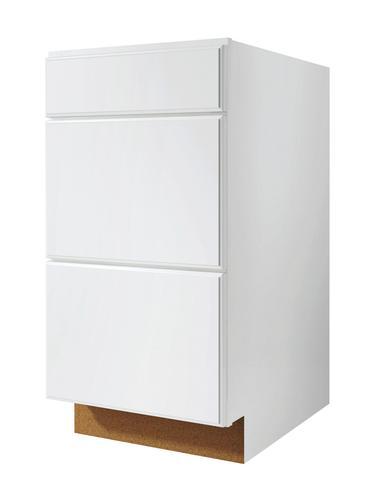 Value choice 24 ontario white 3 drawer base cabinet at menards - Menards white kitchen cabinets ...