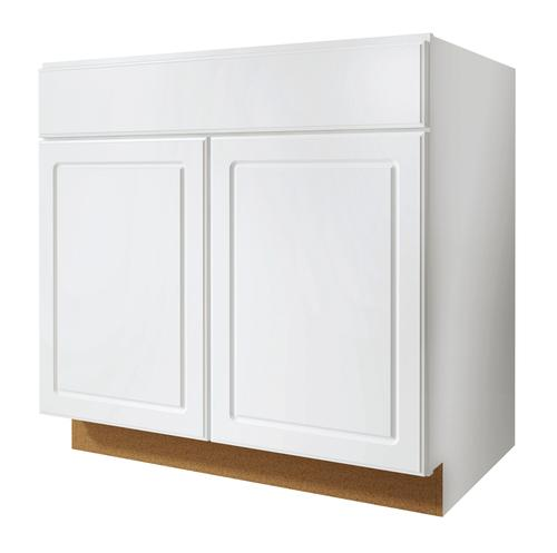Value choice 33 ontario white standard 2 door sink base for Standard white kitchen cabinets