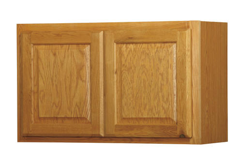 Value choice 30 x 18 huron oak over an appliance wall for Kitchen cabinets 30 x 18